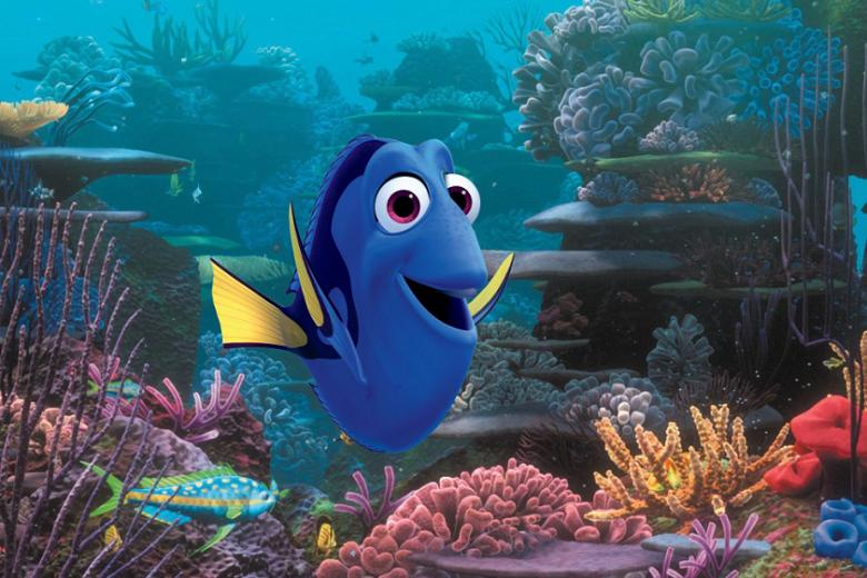 Close-up photo of Ellen DeGeneres in Finding Nemo...
