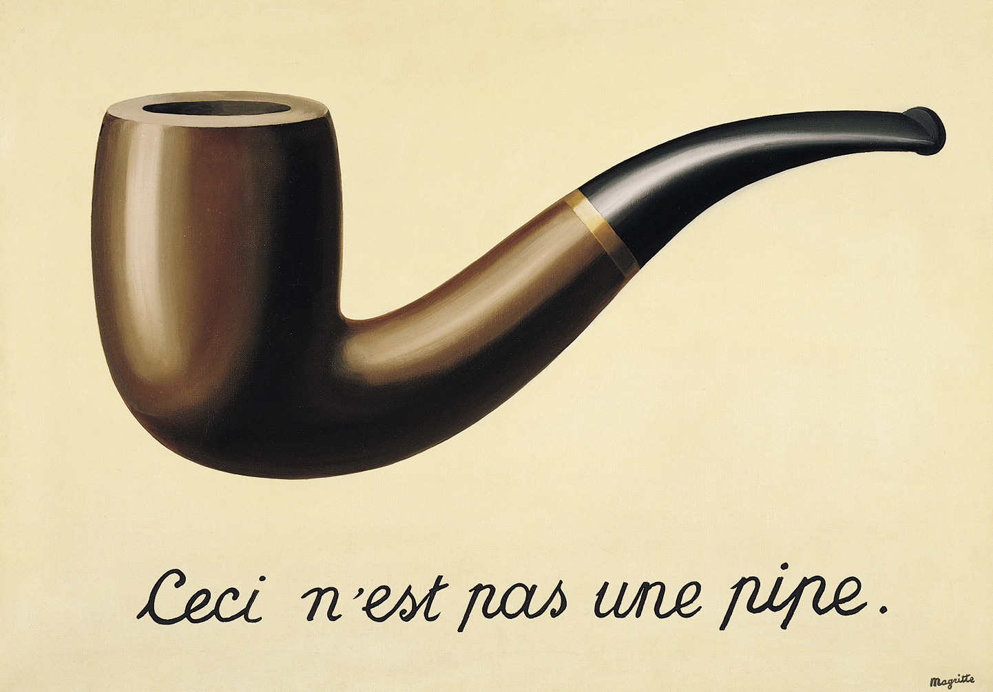 The Treachery of Images... by Rene Magritte