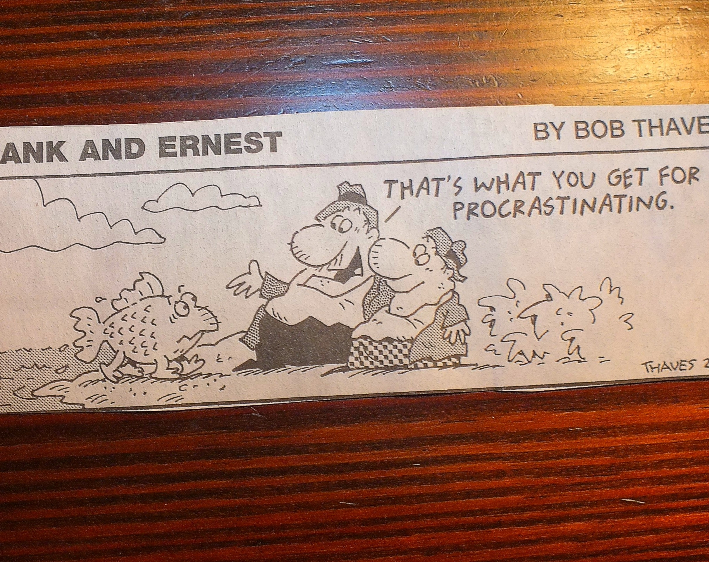 Comic by Bob Thaves. Photo by Thomas Peace 2015