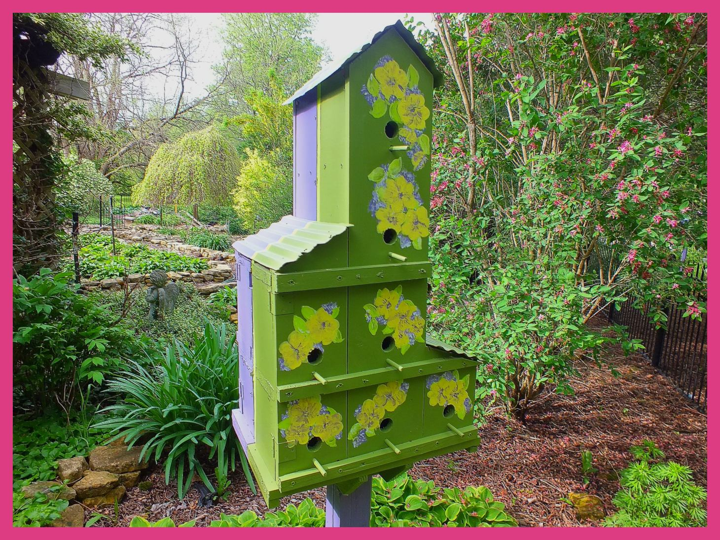 Birdhouse (1... at sister-in-law Mary's place).  Photo by Thomas Peace c. 2015